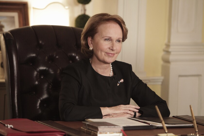 The White House deals with a bombshell announcement from Sally Langston (Kate Burton).