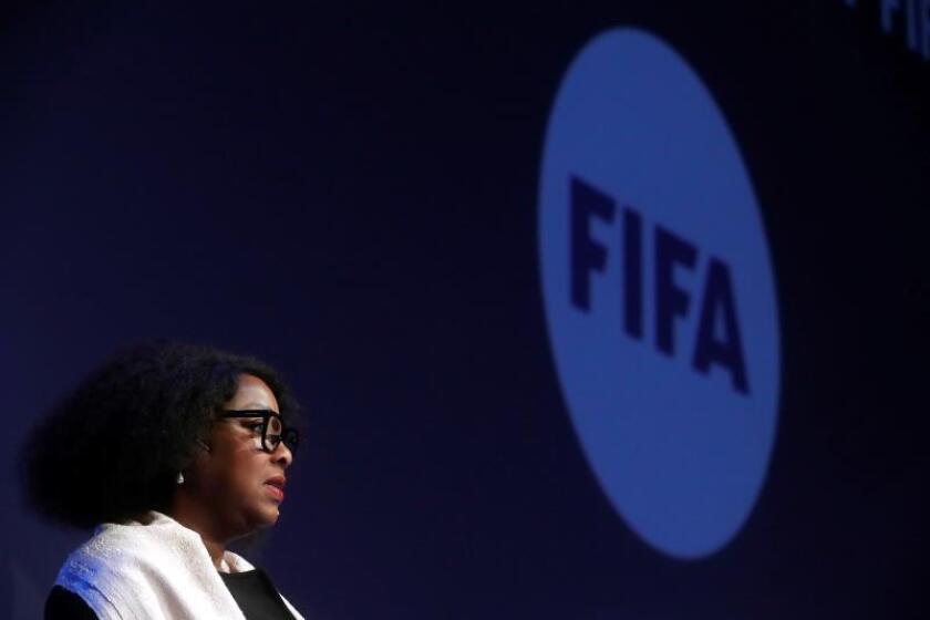 Fatma Samoura, secretaria general de la FIFA. EFE/Archivo