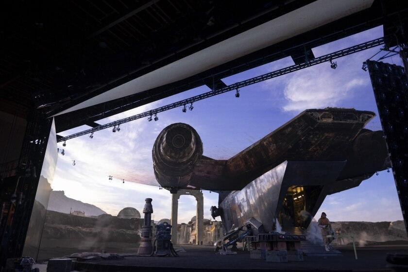 Virtual production of 'The Mandalorian.'