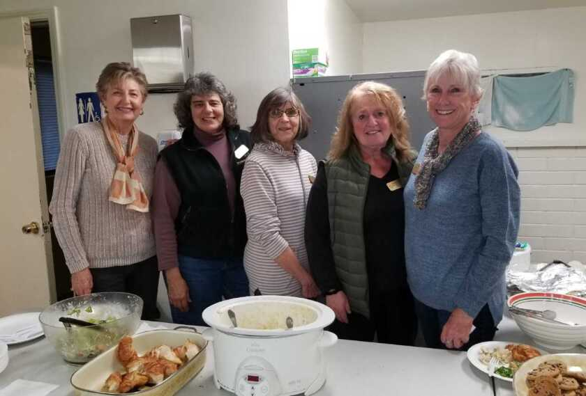 Members of GFWC Contemporary Women of North County served dinner to more than 50 residents at the Vista campus of nonprofit Solutions for Change. Club members offer their time and financial aid to support homeless families who have made the Solutions for Change three-year commitment to gain skills and knowledge and seek resources to permanently solve their homelessness. Visit cwonc.org and solutionsforchange.org.