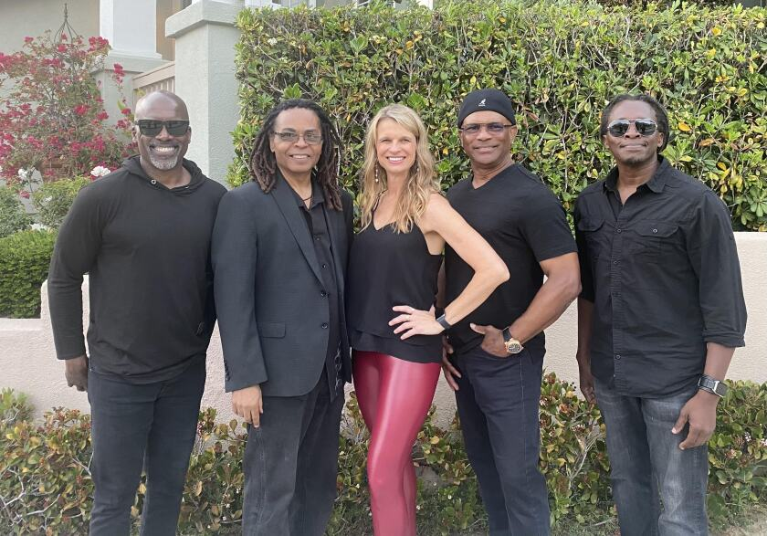 April and the Funk Junkies will be performing from noon-2 p.m. at a backpack drive Summer Weekend Party on Friday, Aug. 13.