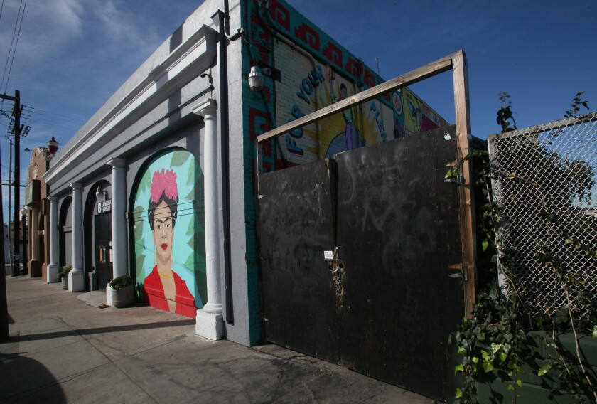 San Diego inspectors found La Bodega Gallery to be lacking fire alarm and sprinkler systems.