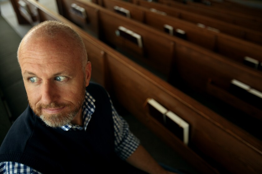 Exodus President Alan Chambers at a chapel at Concordia University in Irvine.