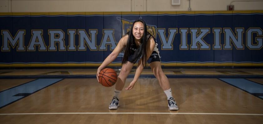 Marina's senior point guard Katie Nguyen Daily Pilot Girls' Basketball Player of the Year.