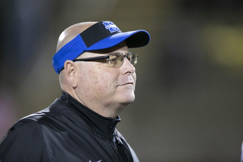 Mira Mesa head coach Chris Thompson died Sept. 4 at 52.