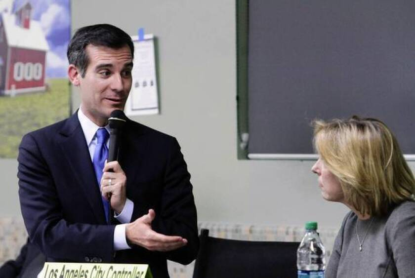 Wendy Greuel and Eric Garcetti engage in acrimonious debate