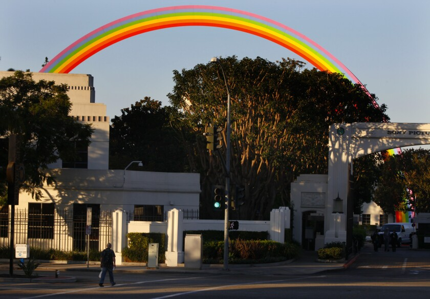 Sony Pictures Entertainment's Culver City headquarters are shown. Films released by the studio won four Golden Globes on Sunday night.