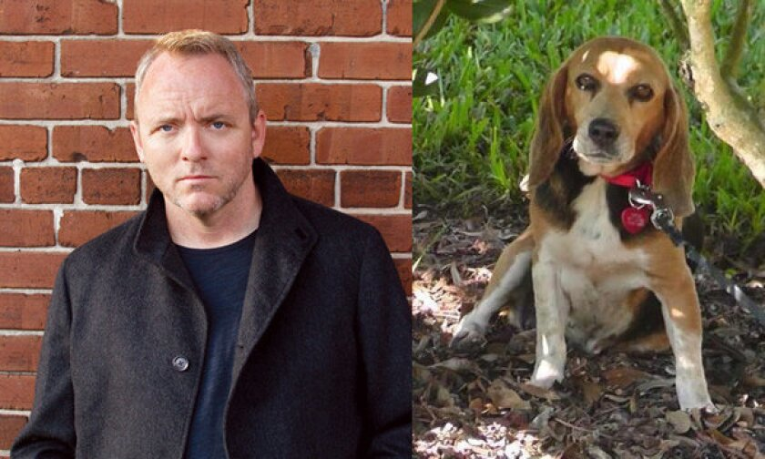 Dennis Lehane and his lost dog, Tessa.