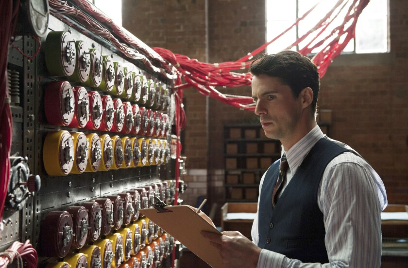 Matthew Goode with the Bombe in 'The Imitation Game'