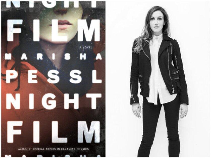 "The cover of the novel, ""Night Film"" and author Marisha Pessl."