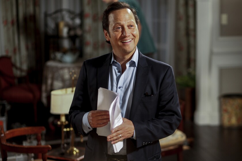 """Comedic actor Rob Schneider is photographed on the set of his new, self-financed production, """"Real Rob,"""" at L.A. Film School in Hollywood."""