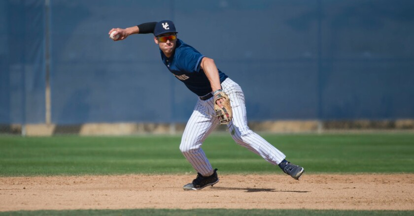 UC San Diego sophomore shortstop Shay Whitcomb was selected 2019 CCAA Player of the Year.