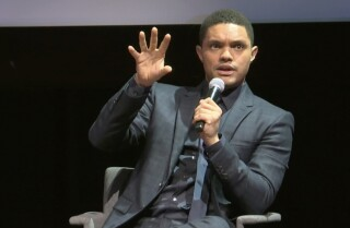 """Daily Show"" host Trevor Noah talks about his book, ""Born a Crime: Stories from a South African Childhood"""