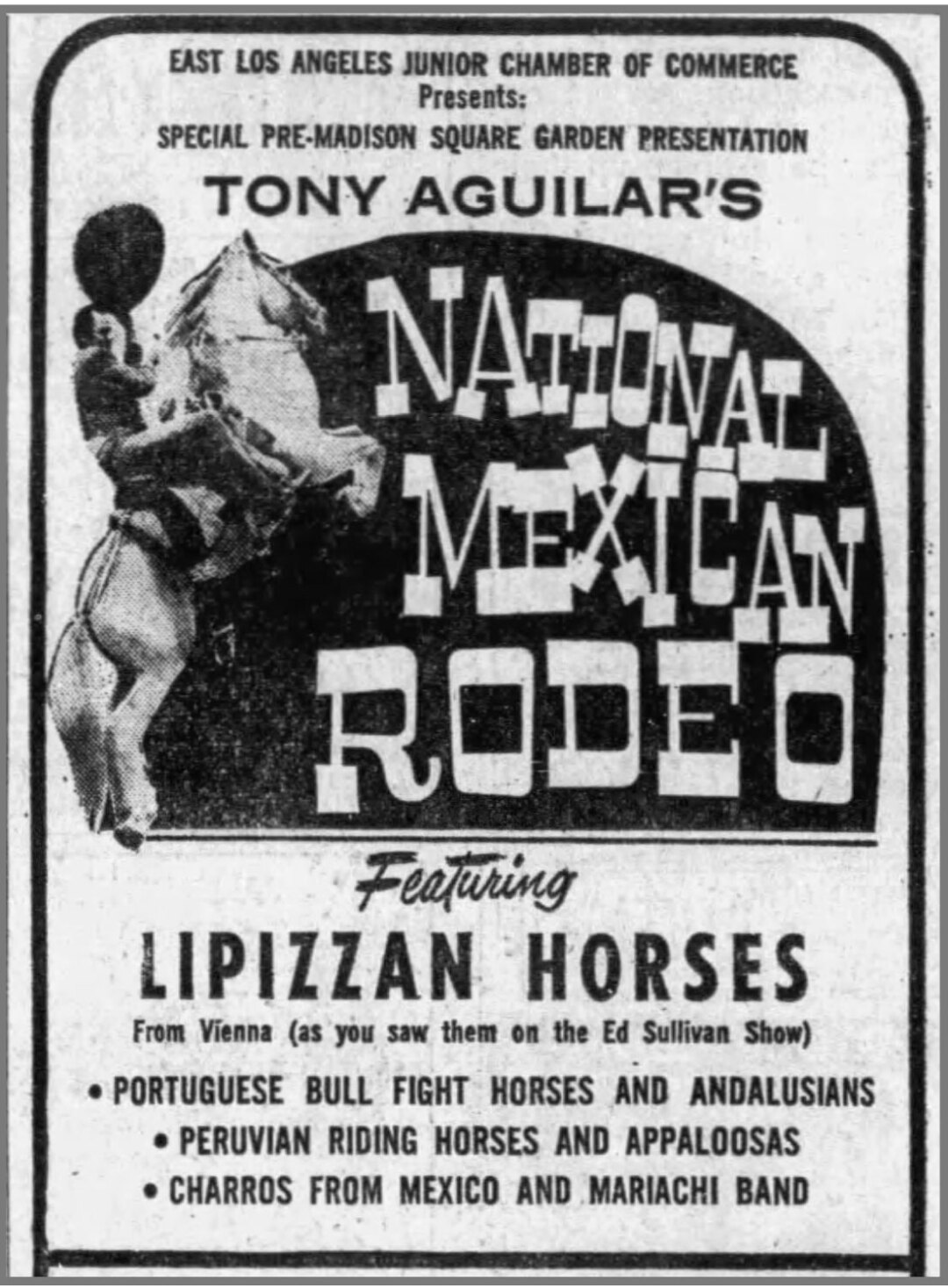 Ad for Antonio Aguilar's show