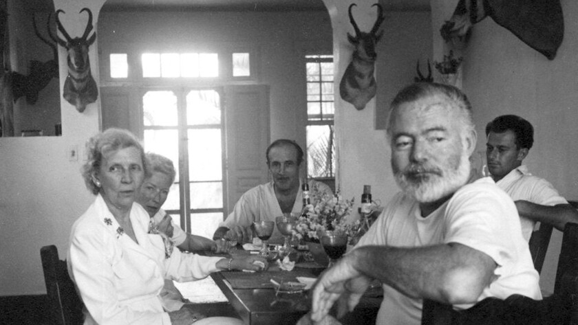 Ernest Hemingway in Cuba. He was famously profiled by Lillian Ross.