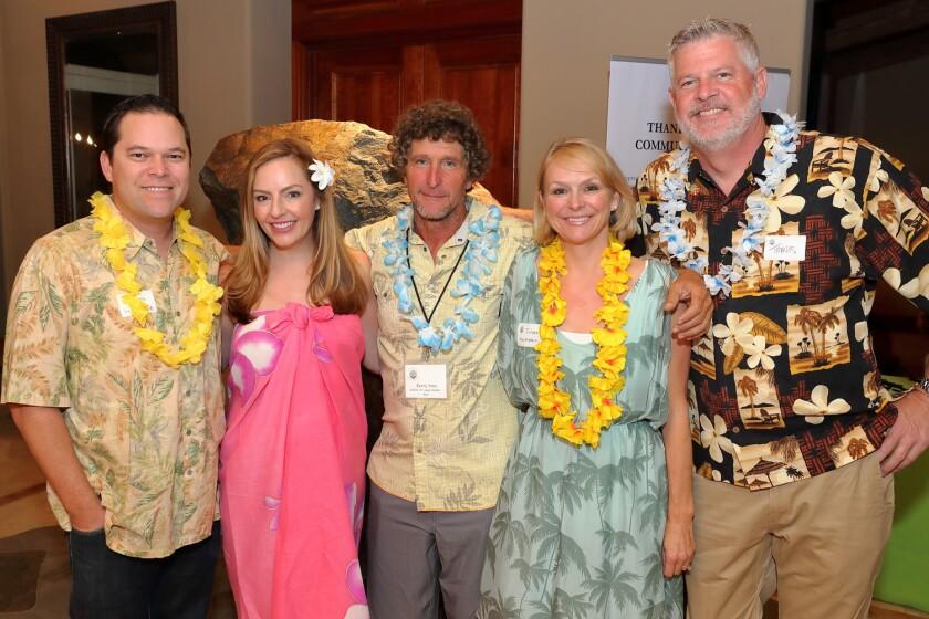 Marc and Kyri Van Hoose, host Kerry Vinci, Janet and Travis Markstein