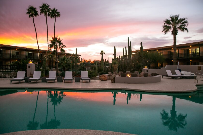 In the summer months, you can pay as little as $112 a night at Civana, a luxe spa resort in Carefree, Ariz.