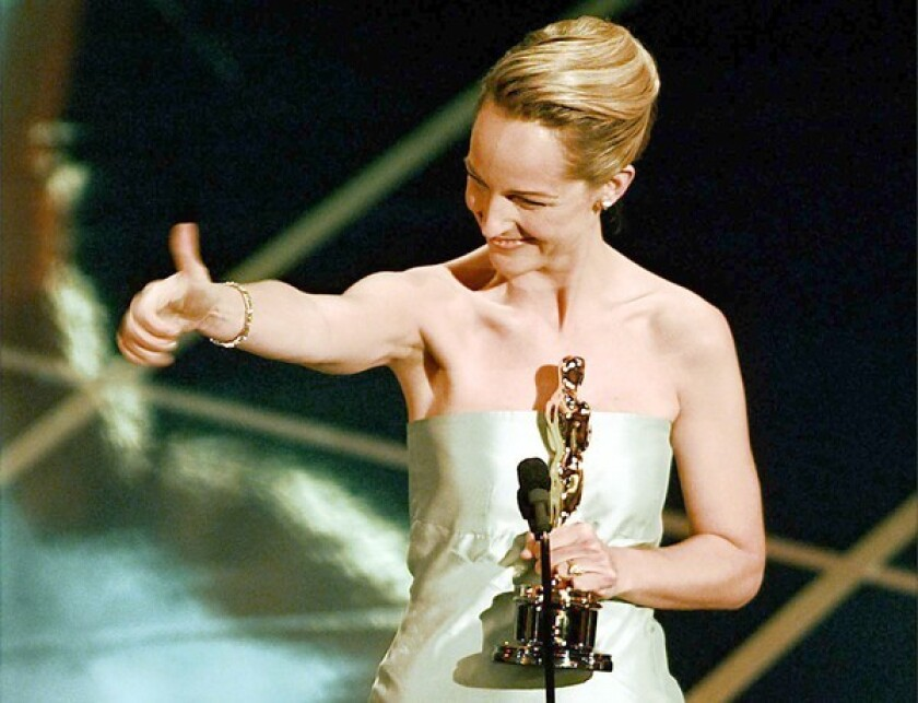 Helen Hunt winning the Oscar