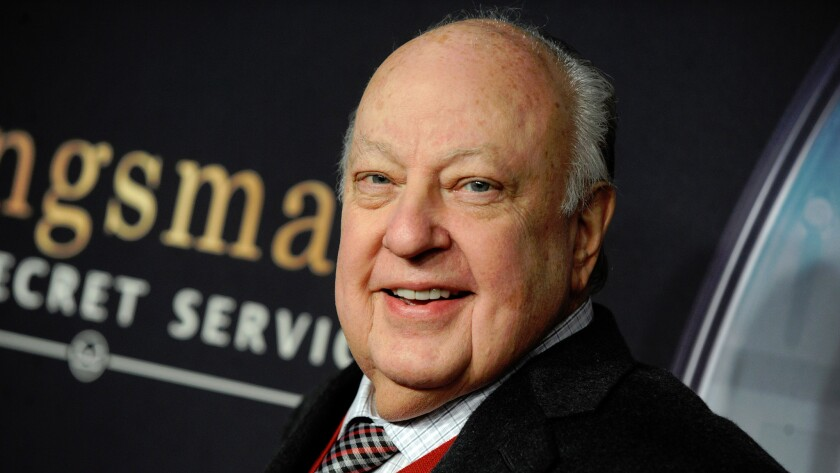 Former Fox News CEO Roger Ailes, shown in February 2015, will be at the center of an upcoming limited series based on the reporting of Gabriel Sherman.
