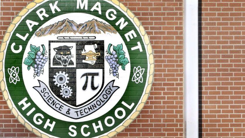 Clark Magnet High School graduation held in the La Crescenta school's amphitheater Wednesday, June 1