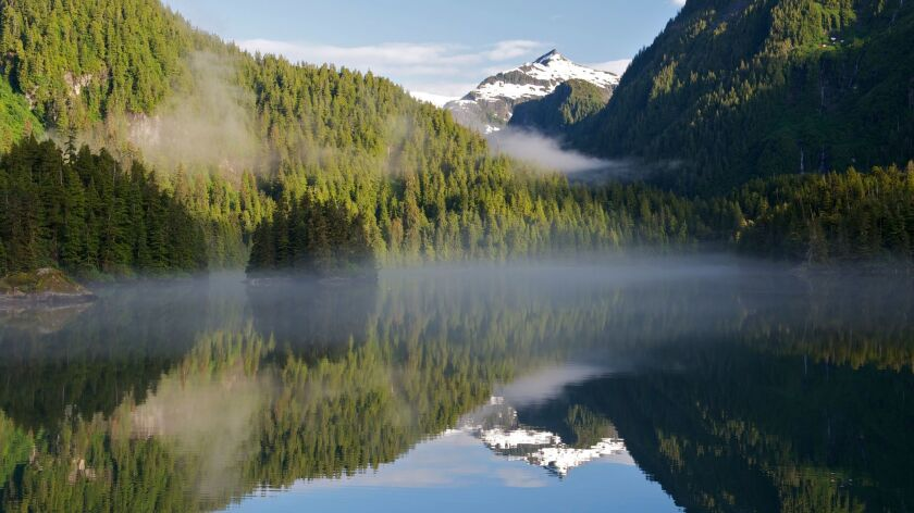 A view of Kasnyku Bay in the Tongass National Forest in Alaska in July 2012.
