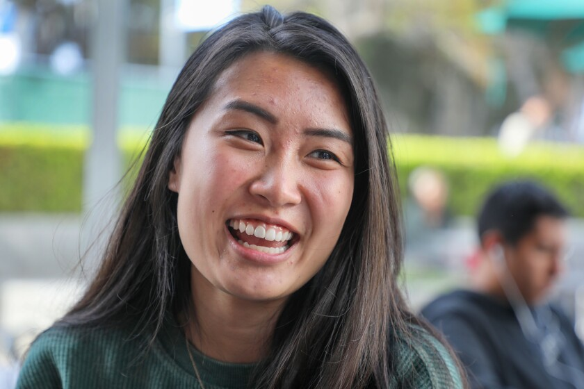 Sarah Gan, a UCSD student that will be a university campus coordinator for Camp Kesem, speaks about the event this summer (during interview).