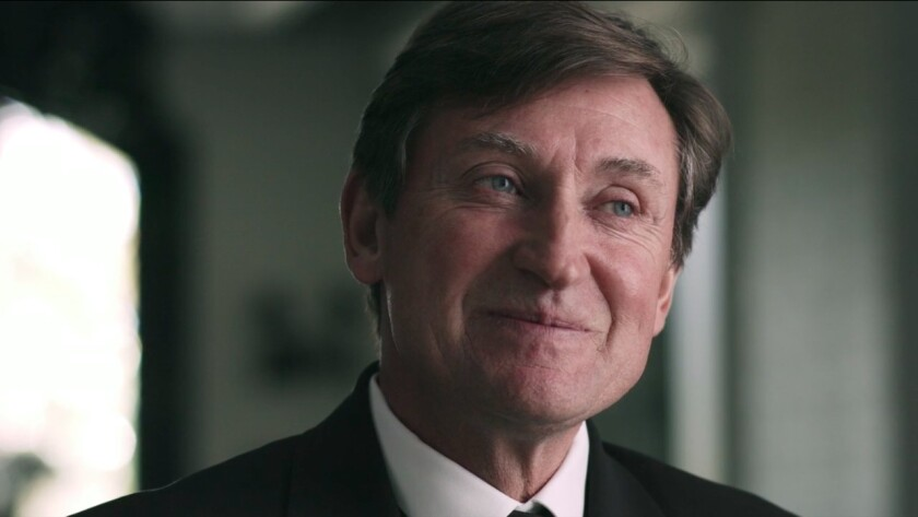 """Wayne Gretzky in a scene from the movie """"In Search of Greatness."""" Credit: AOS"""