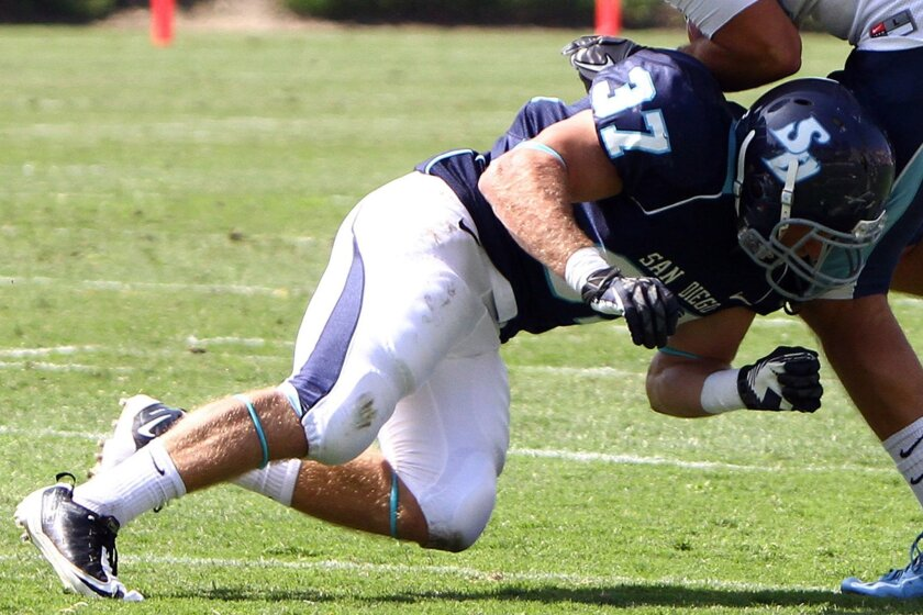 USD safety Robbie Beathard knows he most likely will be strapping on his football helmet for the final time at the end of this season.