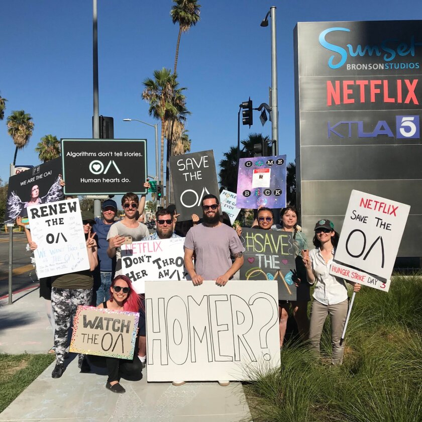 """""""Save the OA"""" Netflix protesters"""