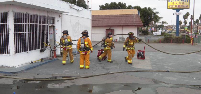 An illegal marijuana dispensary shut down by Chula Vista police Tuesday was damaged by a fire early Thursday.