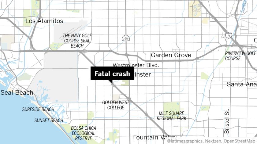 Huntington Beach man, 19, killed in crash on 405 Freeway ... on guilford technical community college map, erie community college map, evergreen college map, copper mountain college map, cerritos community college map, excelsior college map, maple woods community college map, grace bible college map, highline college map, animal behavior college map, belmont college map, vanguard university of southern california map, pima community college west campus map, grand rapids community college map, richmond college map, city of huntington park ca map, guam community college map, st. norbert college map, pasadena college map, lane community college map,