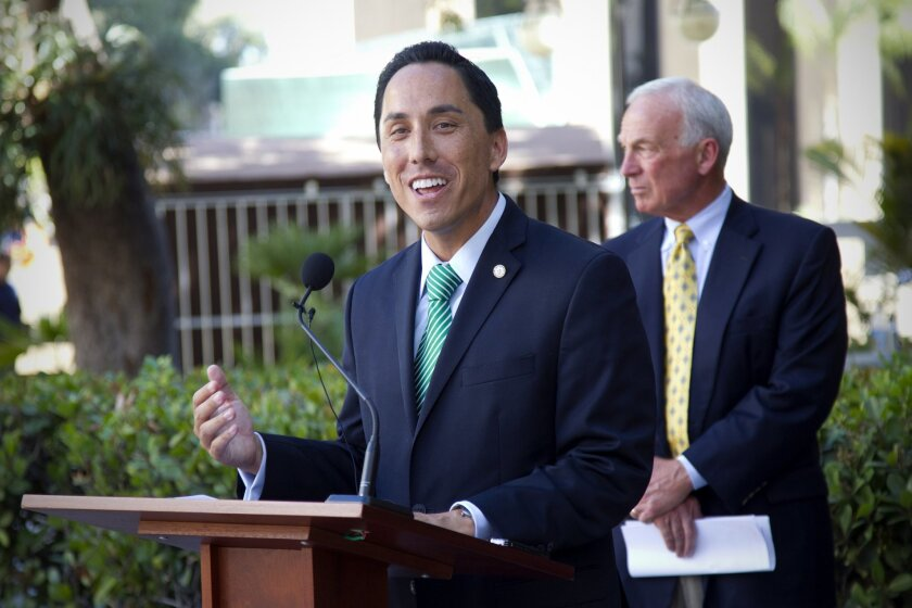 San Diego's interim Mayor, Todd Gloria and former Mayor Jerry Sanders held press conference to show support to promote the Miramar Airshow.  This years air show will take place on October 5th & 6th.