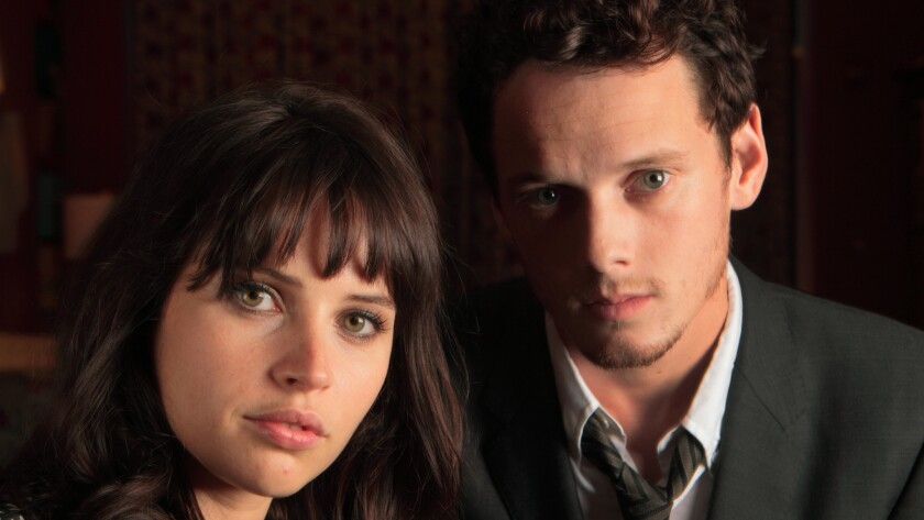 Jones and Yelchin photographed by The Times in 2011.