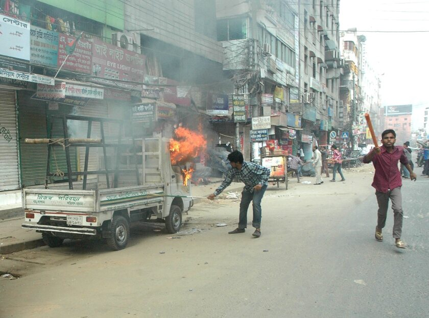Political tension in Bangladesh