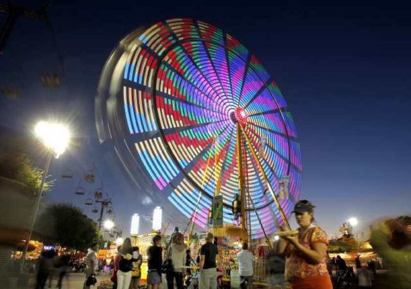 A Ferris wheel at the Orange County Fair