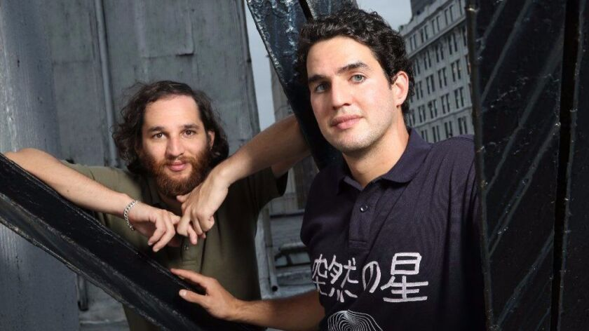 """Brothers Josh Safdie and Benny Safdie are independent filmmakers based in New York. Raised in both Queens and Manhattan, they began making movies at a young age. Their new movie is called """"Good Time."""""""