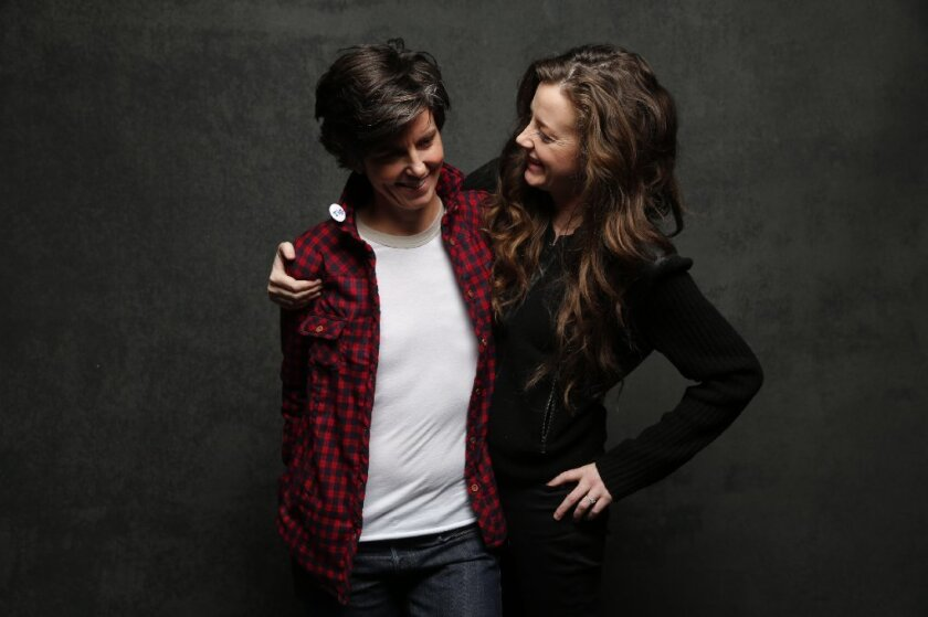 """Tig Notaro, left, and fiancee Stephanie Allynne star in a new documentary that played at Sundance this week called """"Tig."""""""