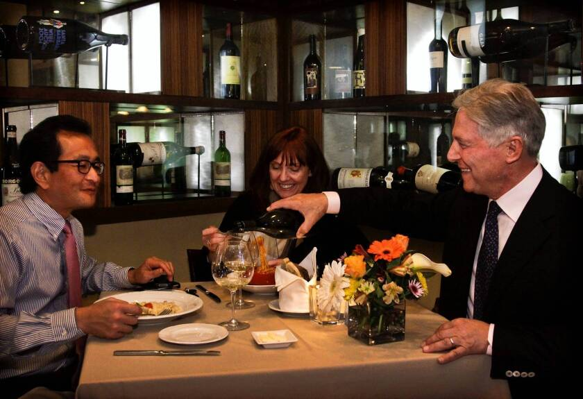 At Piero Selvaggio's Valentino, trendy dining isn't on the menu