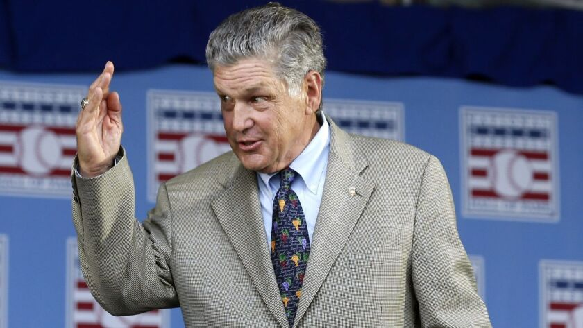 Hall of Famer Tom Seaver arrives for an induction ceremony at the Clark Sports Center in Cooperstown, N.Y, on July 26, 2015.