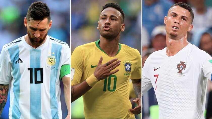 Lionel Messi (i), Neymar y Cristiano Ronaldo... sombras y luz.