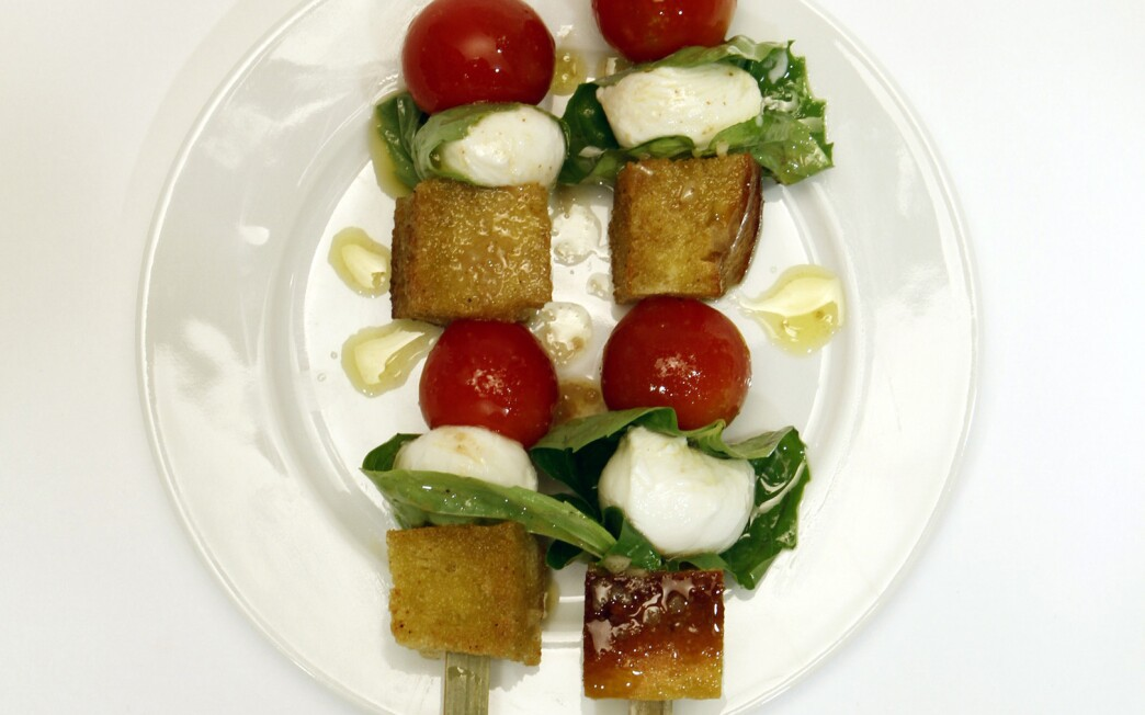 Panzanella with sherry vinaigrette