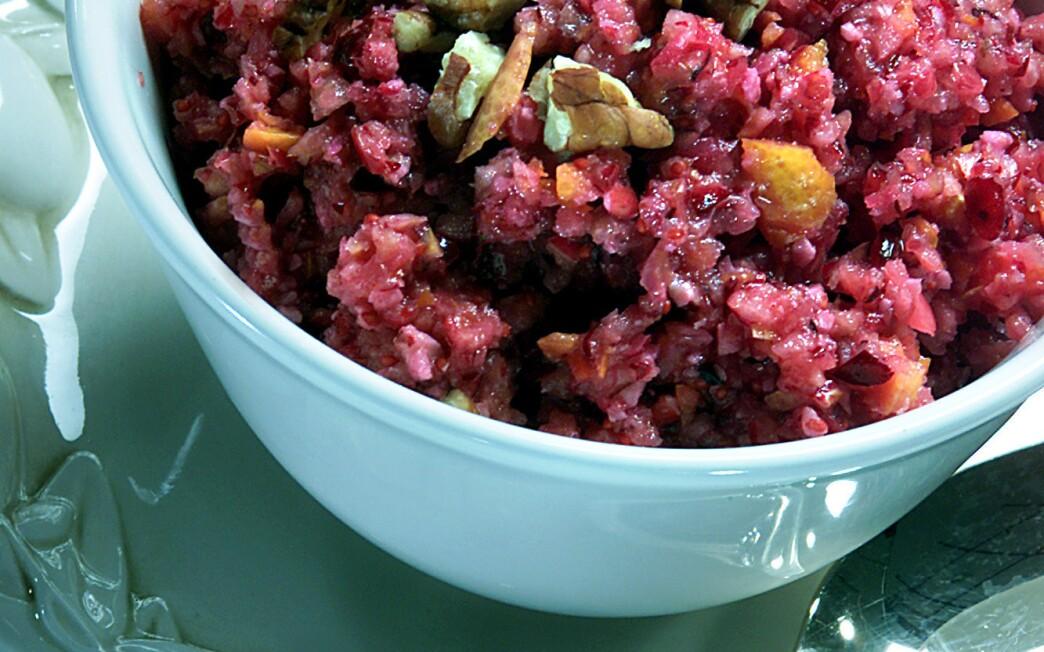 Cranberry, orange and pecan relish