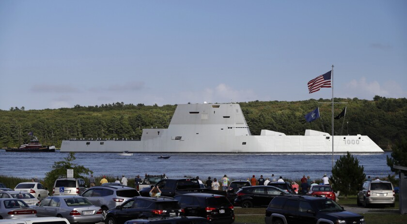 The $4.4-billion Zumwalt is the most expensive destroyer ever built for the U.S. Navy.