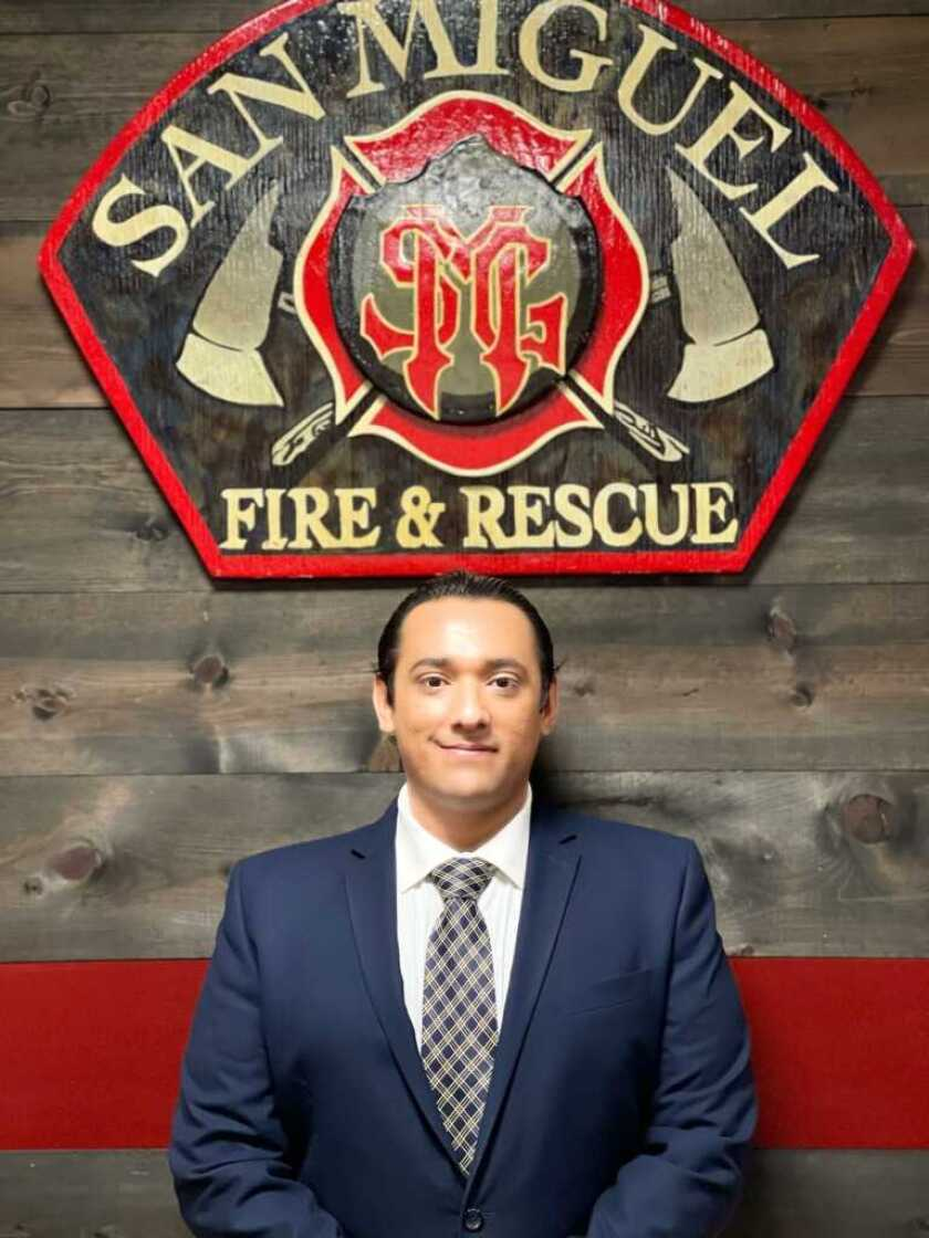 Newly appointed San Miguel Consolidated Fire Protection District Board member Jesse Robles.