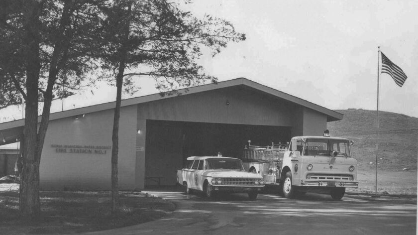 Poway's first fire station, located on Community Road just south of Hilleary, opened in 1961.