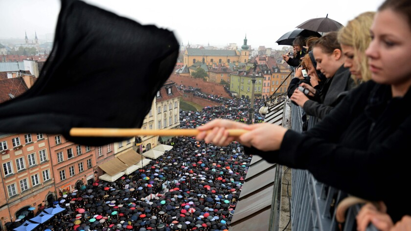 Poland abortion protest