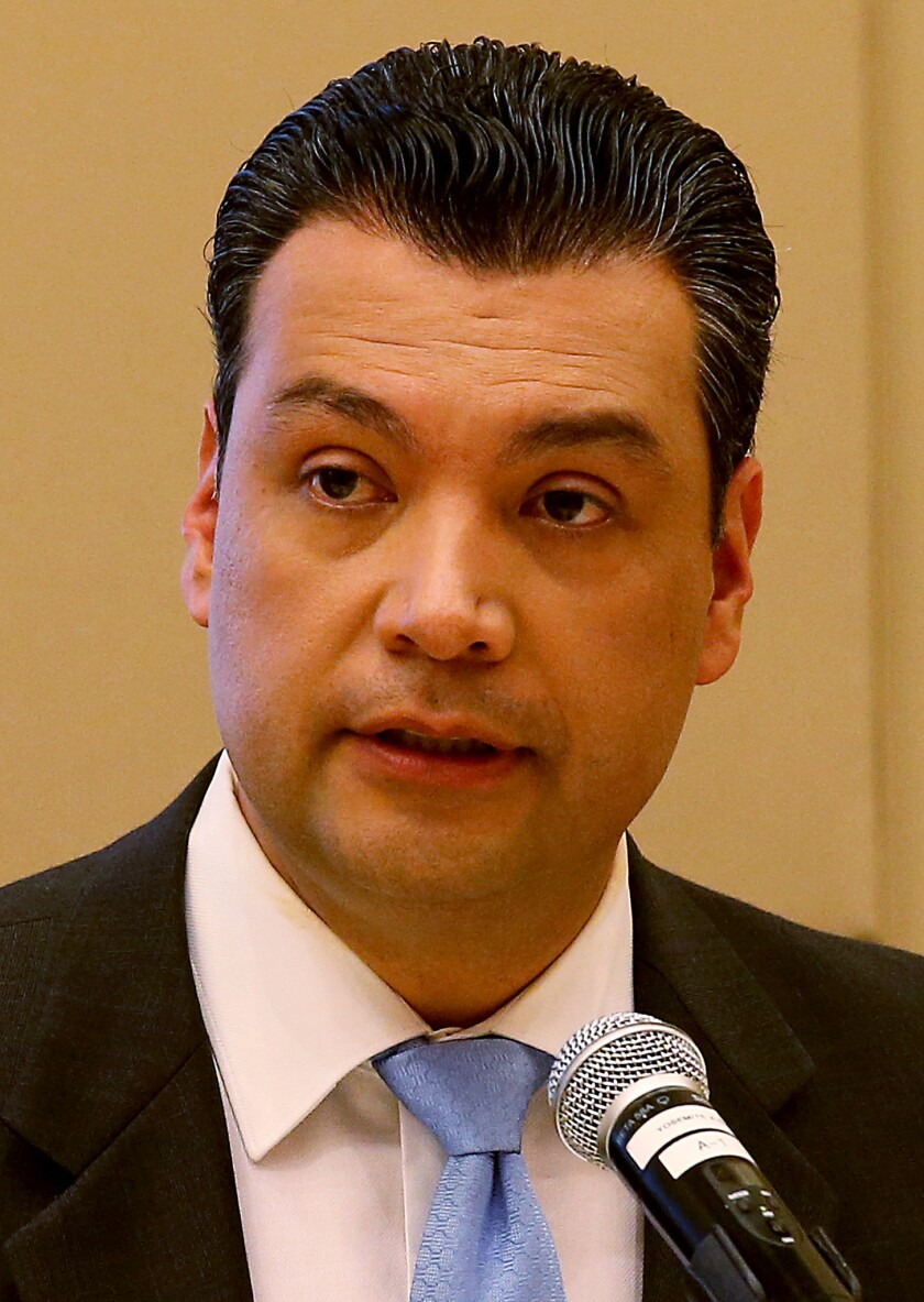 California Secretary of State Alex Padilla noted there are about 6.7 million state residents who are eligible but not registered.