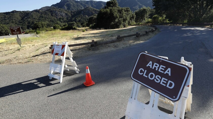 A campground at Malibu Creek State Park in Calabasas is closed until further notice. Officials are investigating Friday's shooting death of a man who was camping with his daughters.