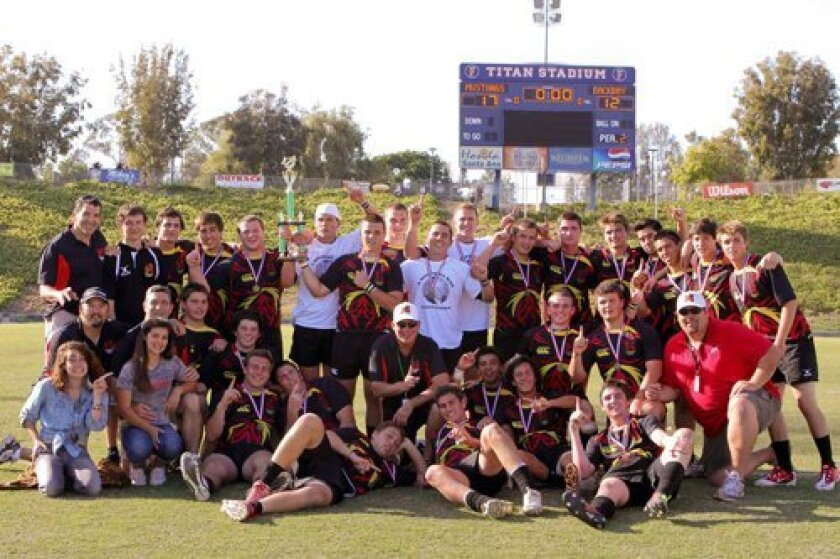 Last year's Mustangs Under 19 team – Southern California Champions.