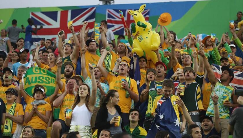 Los fans en Río 2016...